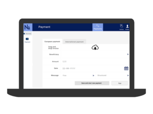 Upload invoices via web app