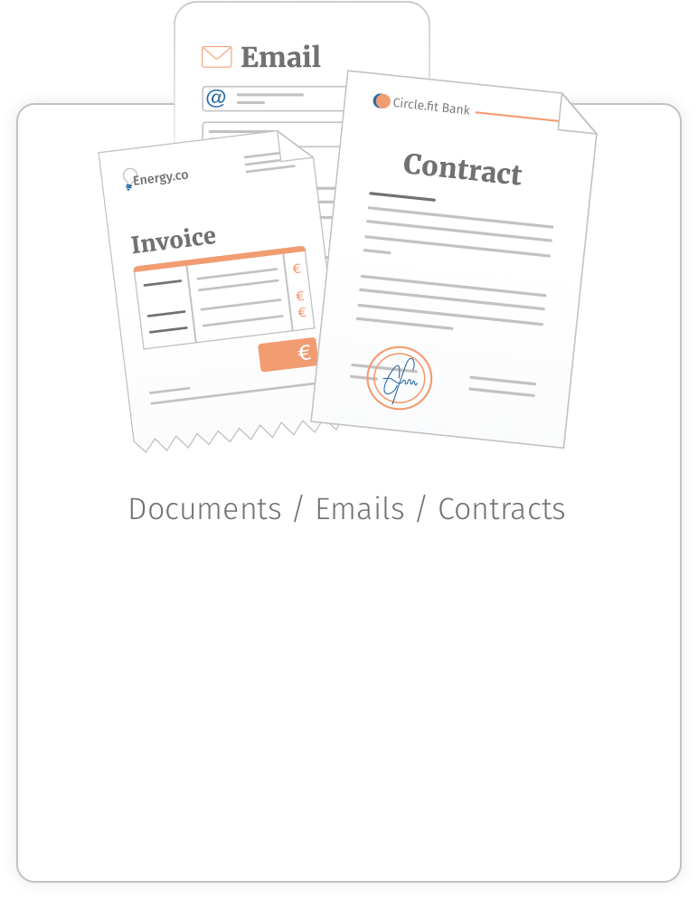 Extracting information from all types of documents, emails, invoices, contracts