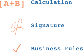 Validation of processes and business rules